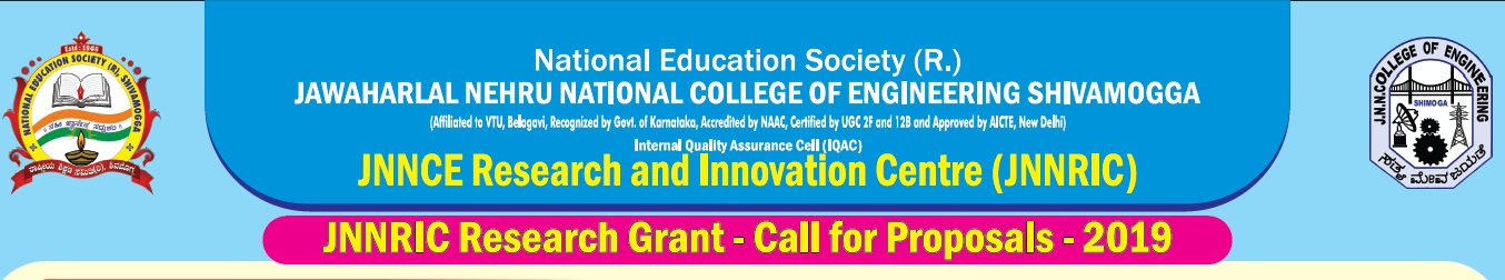 JNNCE | Jawaharlal Nehru National College of Engineering